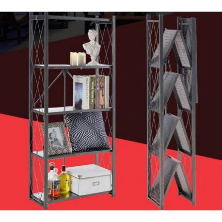 五層沖孔板式折疊架