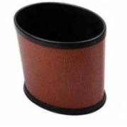 皮革面橢圓小圓桶